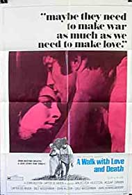 Anjelica Huston and Assi Dayan in A Walk with Love and Death (1969)
