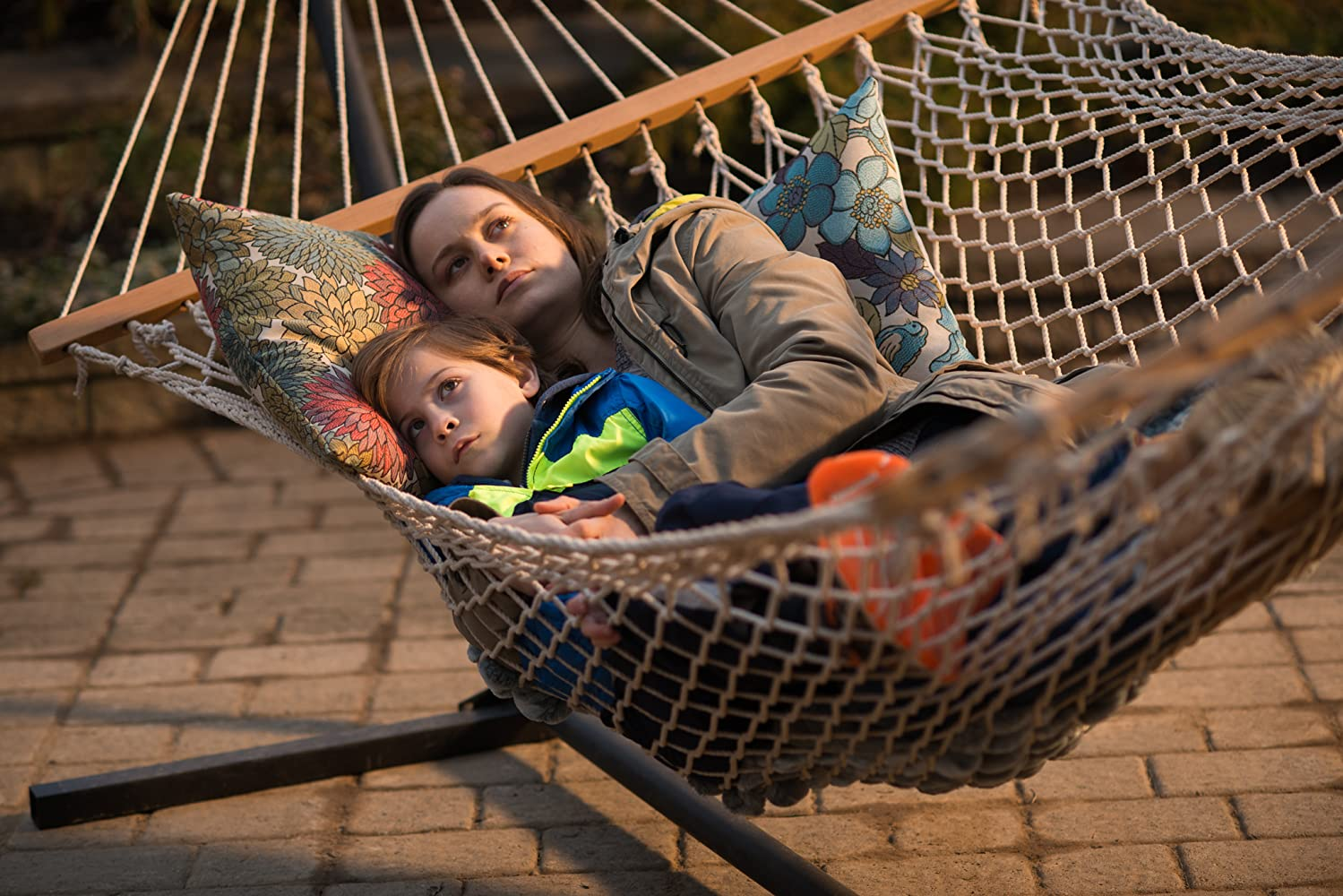 Brie Larson and Jacob Tremblay in Room (2015)