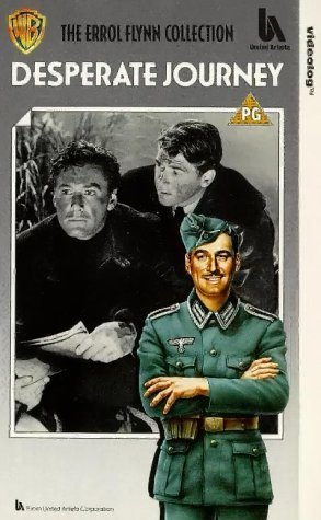 Errol Flynn and Ronald Reagan in Desperate Journey (1942)