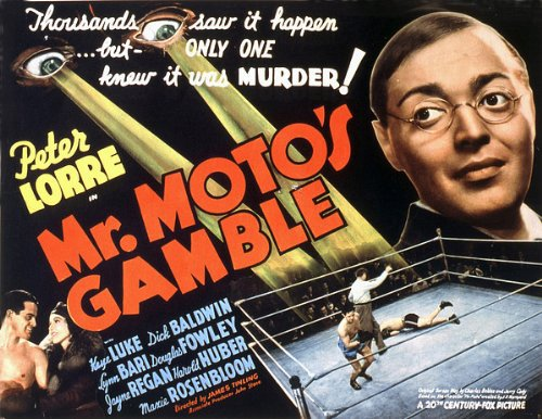 Peter Lorre, Dick Baldwin, and Lynn Bari in Mr. Moto's Gamble (1938)
