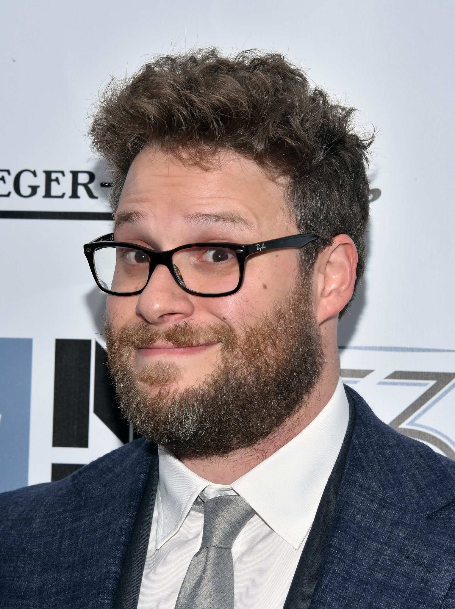 Seth Rogen at an event for Steve Jobs (2015)