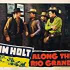 Tim Holt, Emmett Lynn, Monte Montague, and Ray Whitley in Along the Rio Grande (1941)