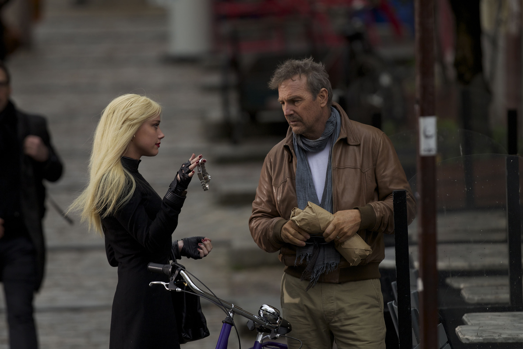 Kevin Costner and Amber Heard in 3 Days to Kill (2014)