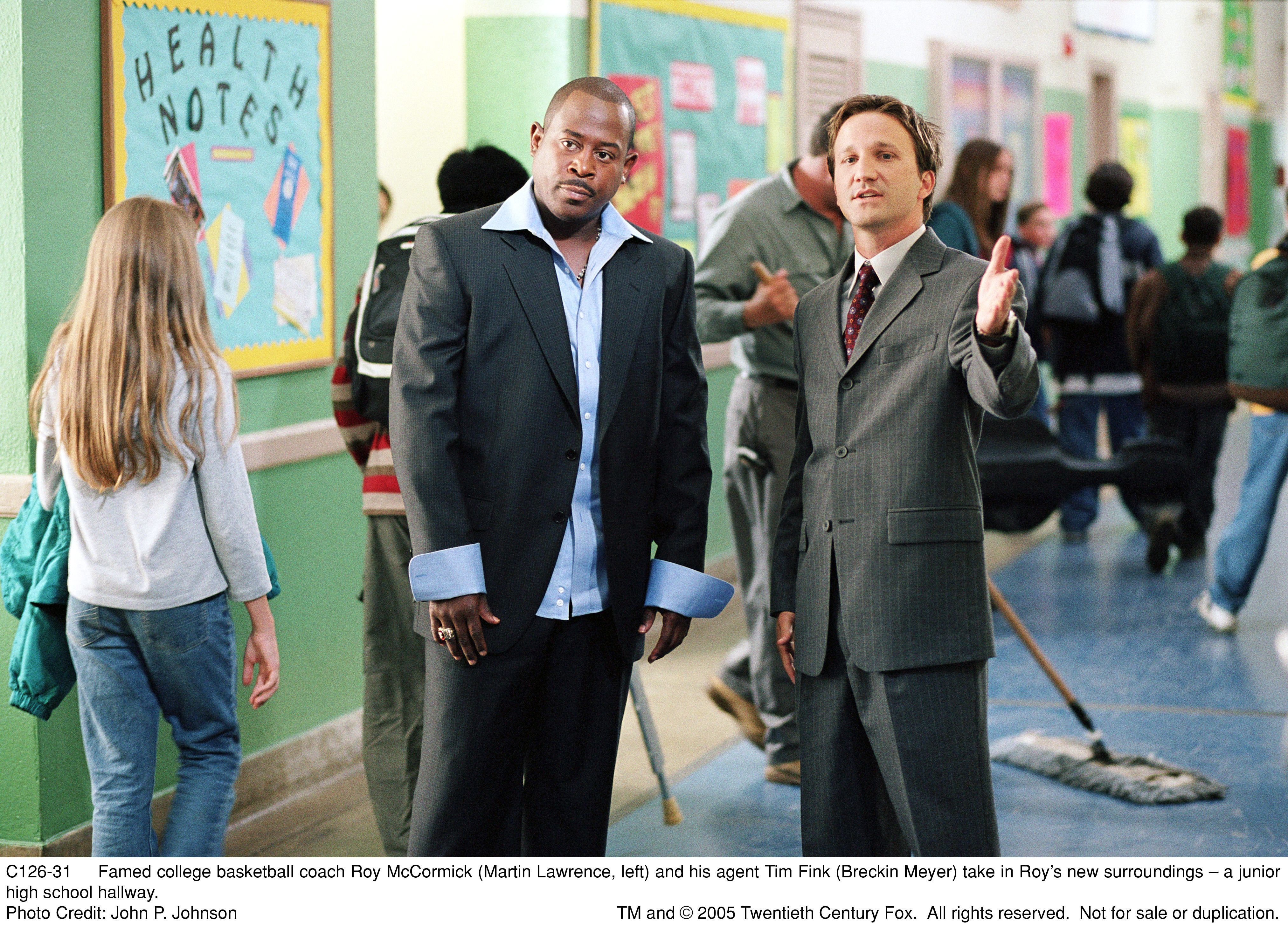 Martin Lawrence and Breckin Meyer in Rebound (2005)