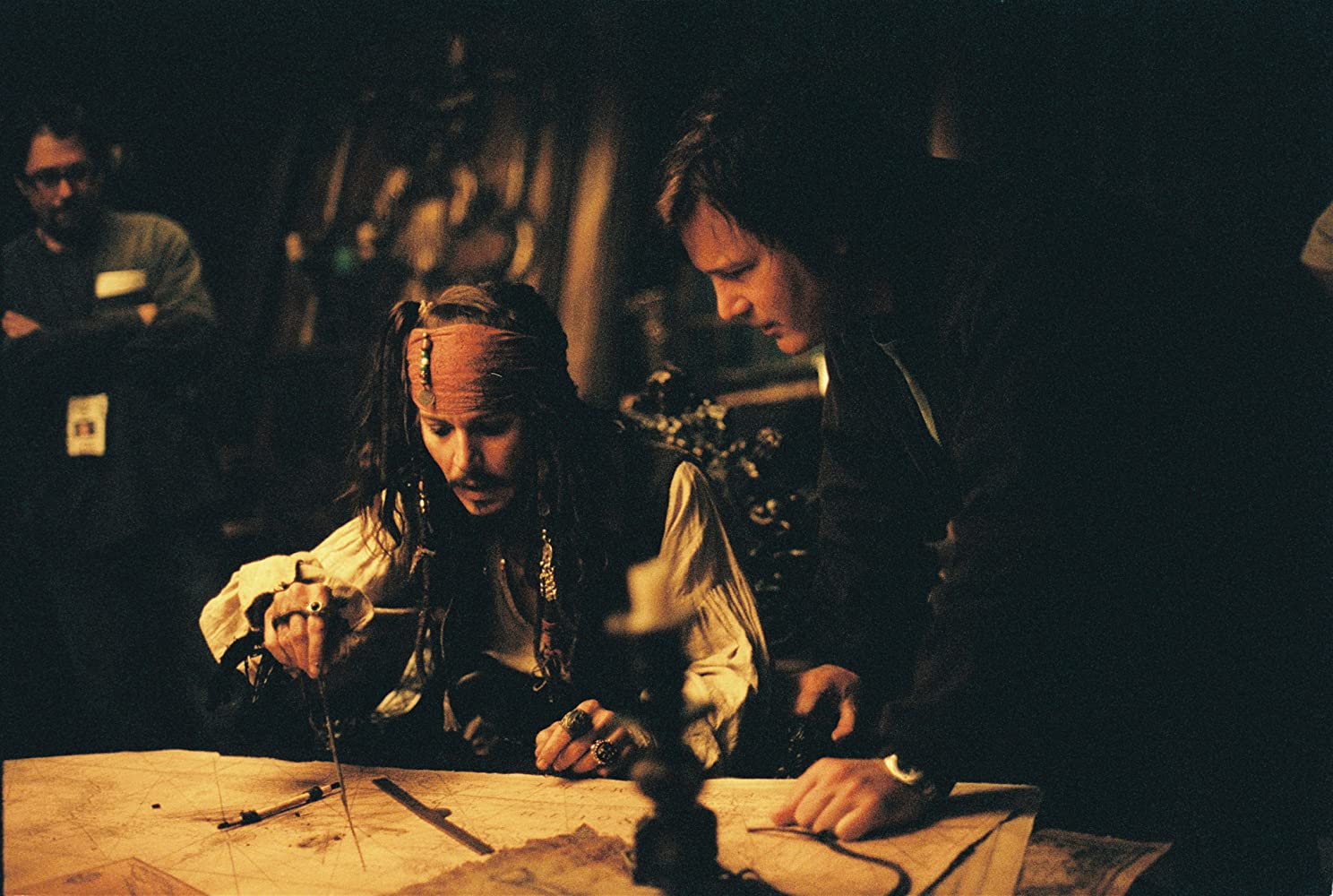 Johnny Depp and Gore Verbinski in Pirates of the Caribbean: Dead Man's Chest (2006)