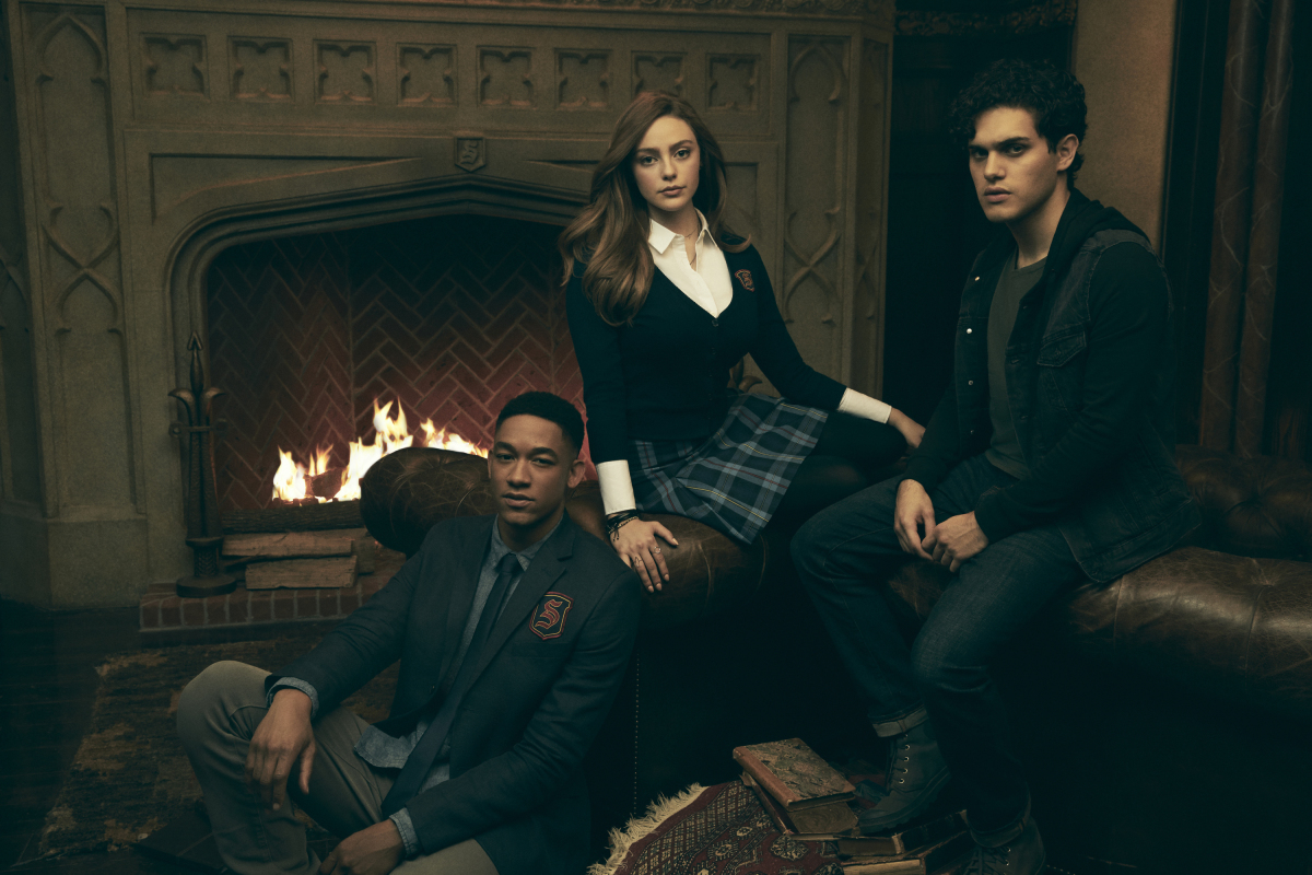 Peyton 'Alex' Smith, Danielle Rose Russell, and Aria Shahghasemi in Legacies (2018)