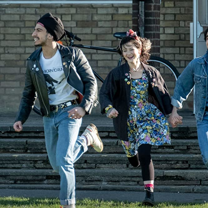 Nell Williams, Aaron Phagura, and Viveik Kalra in Blinded by the Light (2019)