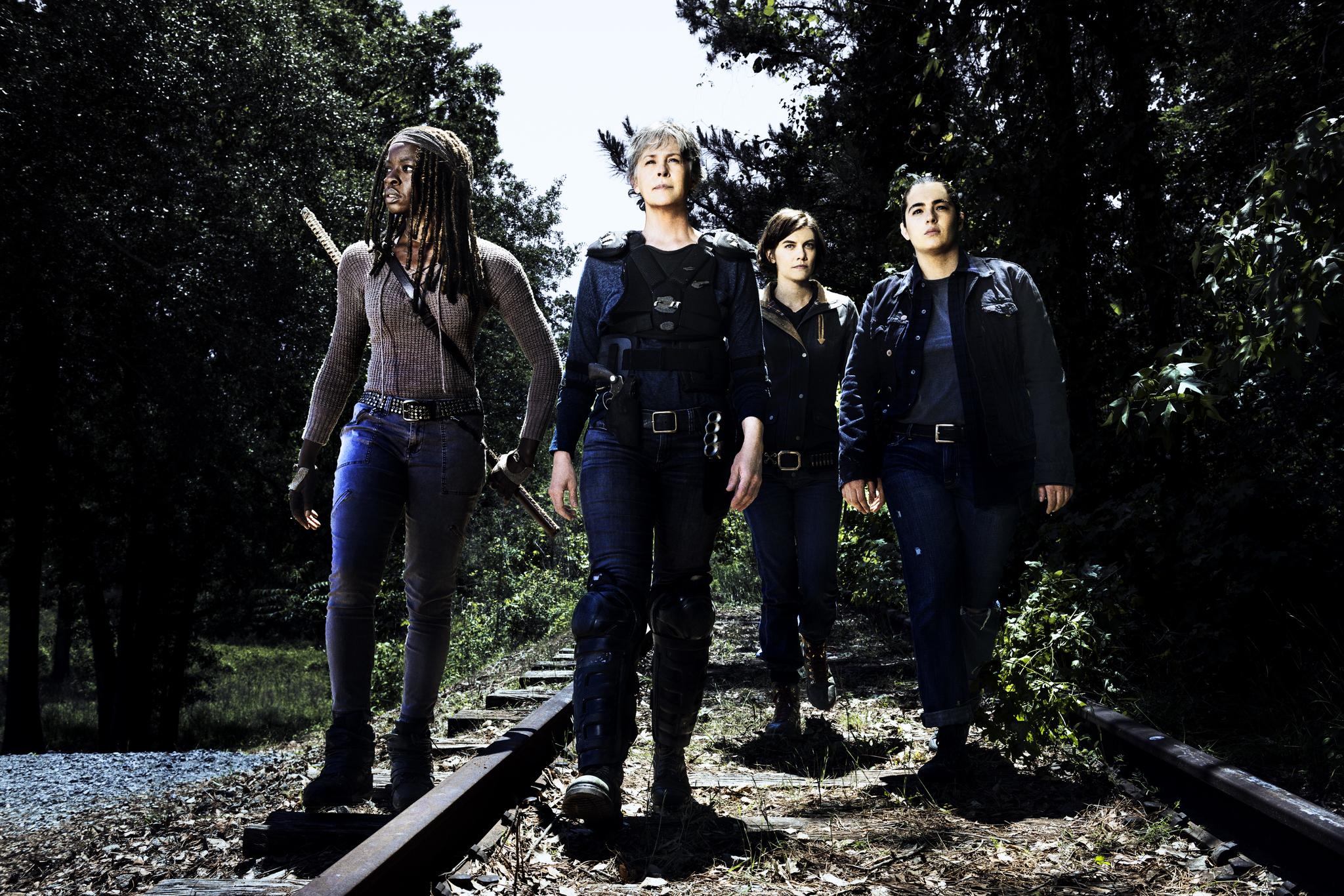 Melissa McBride, Alanna Masterson, Lauren Cohan, and Danai Gurira in The Walking Dead (2010)