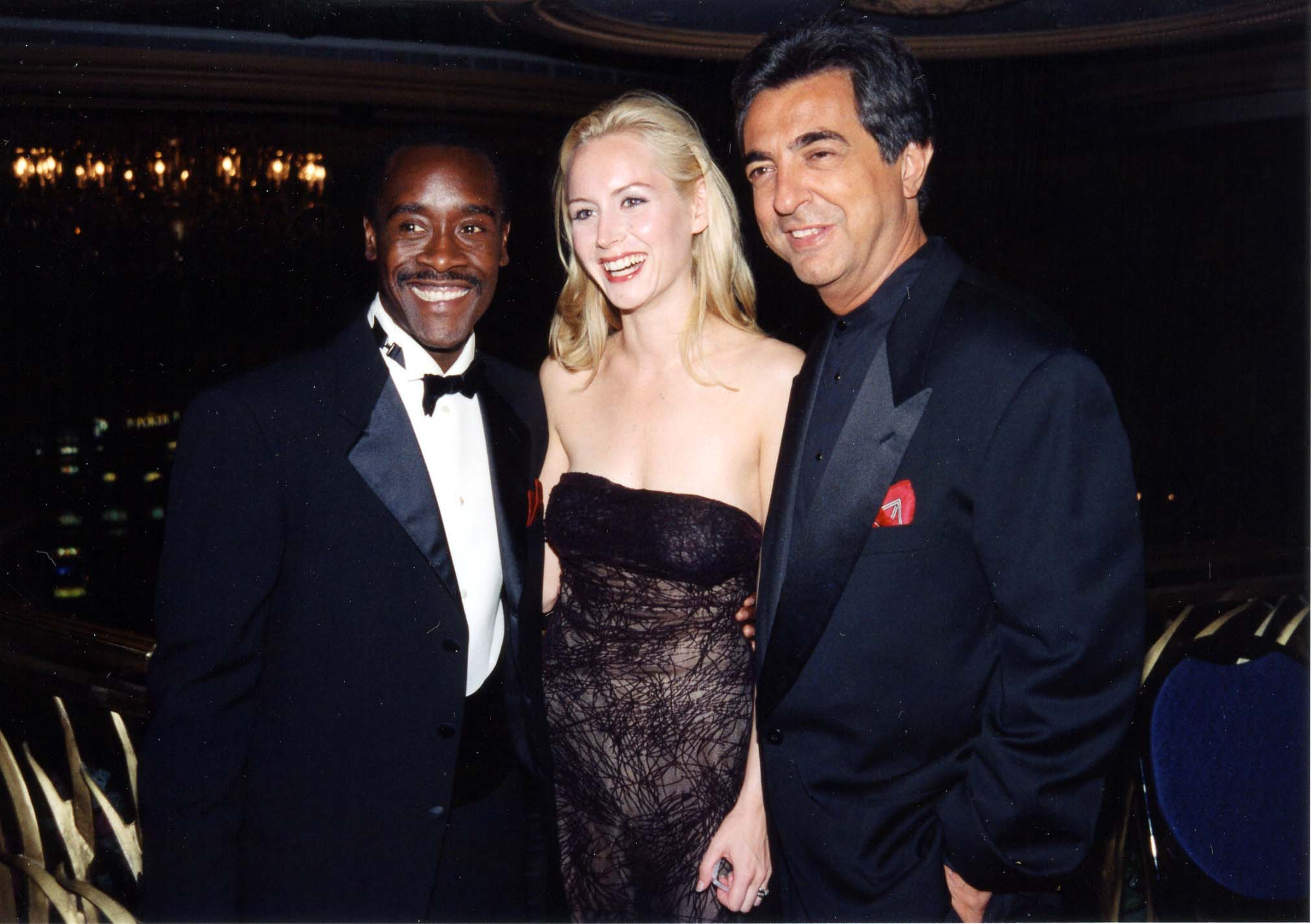 Don Cheadle, Megan Dodds and Joe Mantegna at the Los Vegas Premier of HBO's The Rat Pack