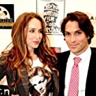 India Irving and Mario Rivelli at the IFQ Film Festival's opening party - 11 April, 2012 - Confidential, Beverly Hills.