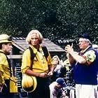 Suzy Amis, William Forsythe, Vladimir Kulich, and Director Dean Semler on the set of Firestorm (1998)