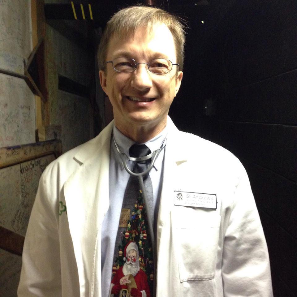 "KB as Dr. Hubert Bonney in ""It Runs in the Family."""