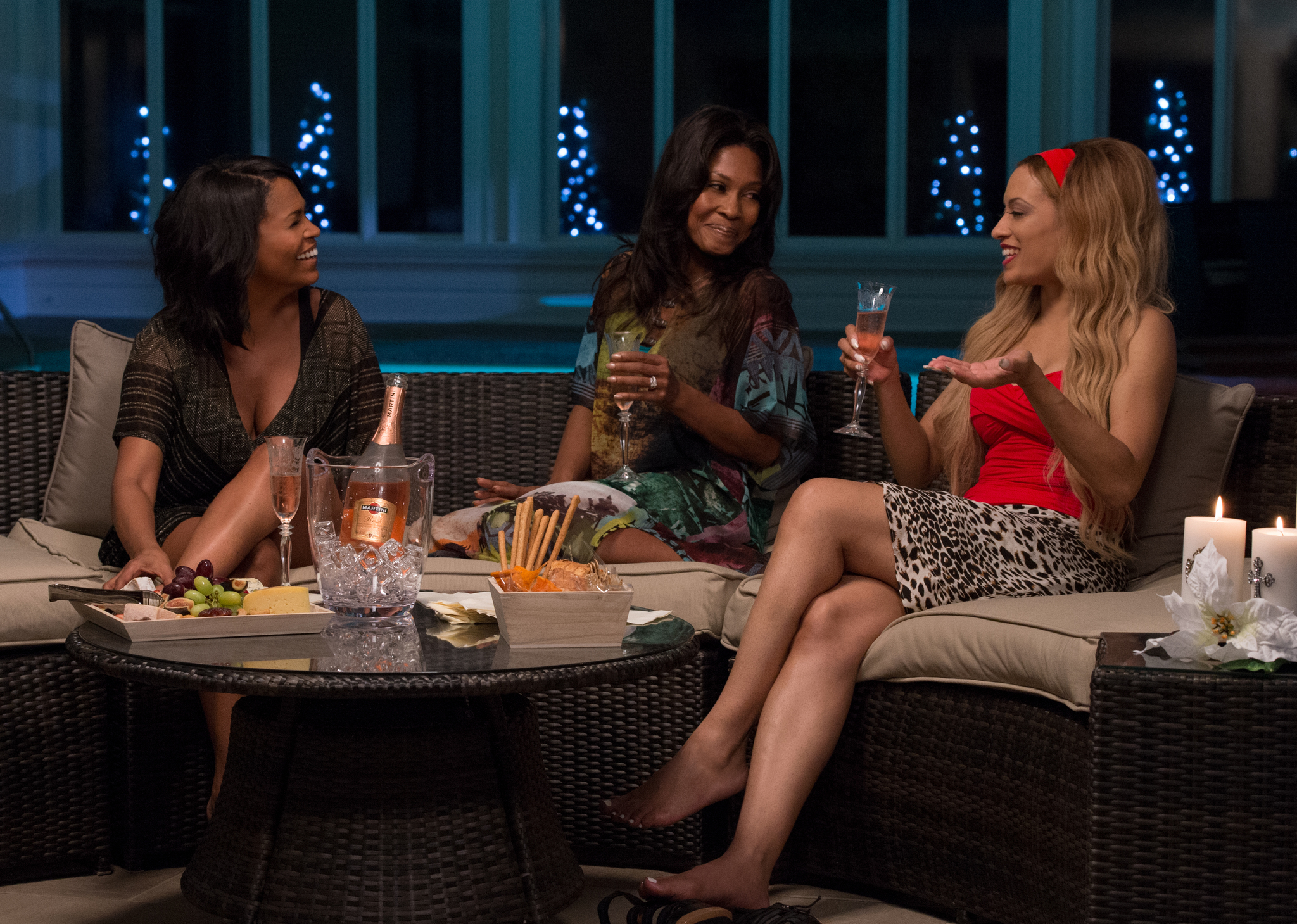 Nia Long, Monica Calhoun, and Melissa De Sousa in The Best Man Holiday (2013)