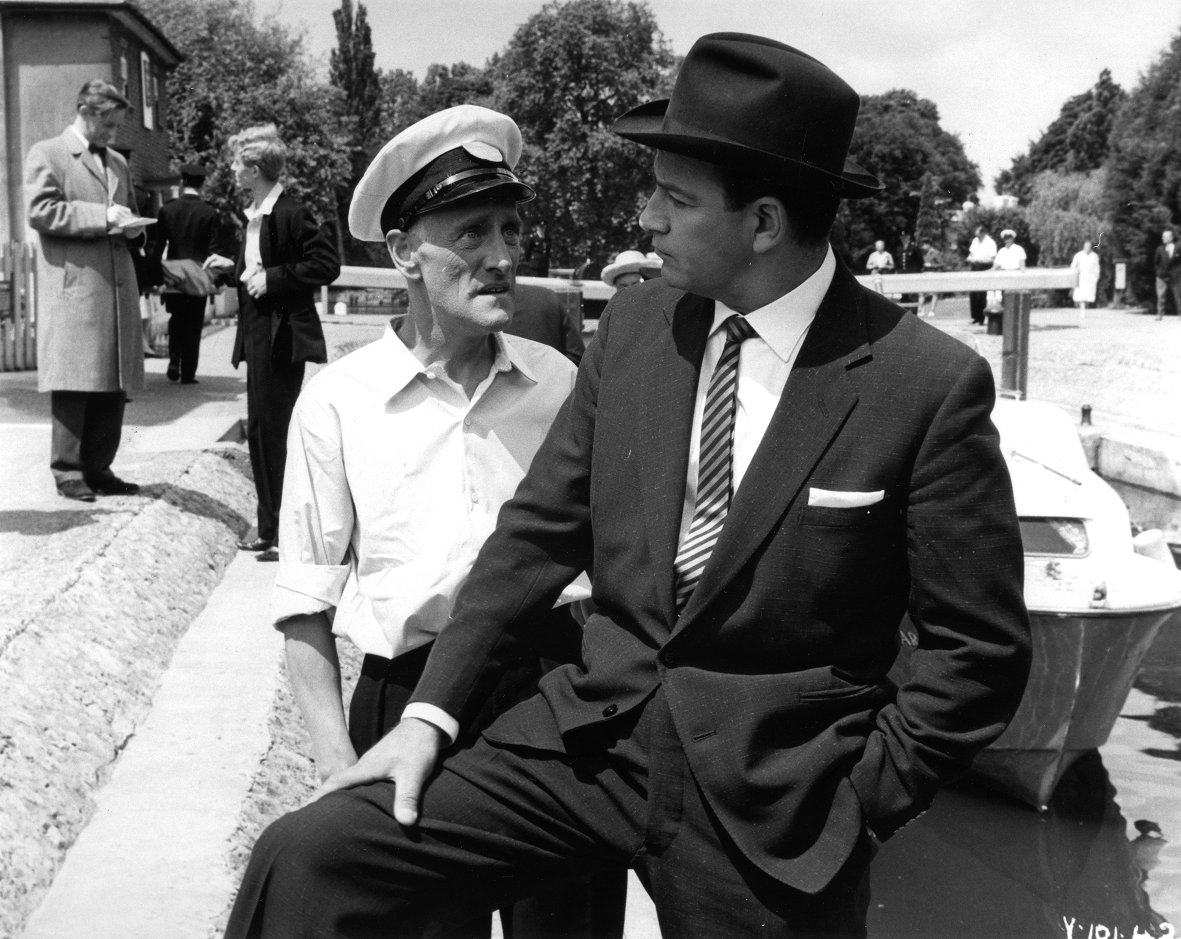 John Bentley and Wilfrid Brambell in The Sinister Man (1961)