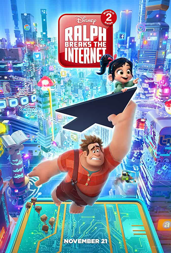 Ralph Breaks the Internet (2018) 480p HDRip x264 ESubs [Dual Audio] [Hindi (Cleaned) or English] [350MB]