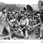John Wayne, Ian Keith, Tyrone Power Sr., and Charles Stevens in The Big Trail (1930)