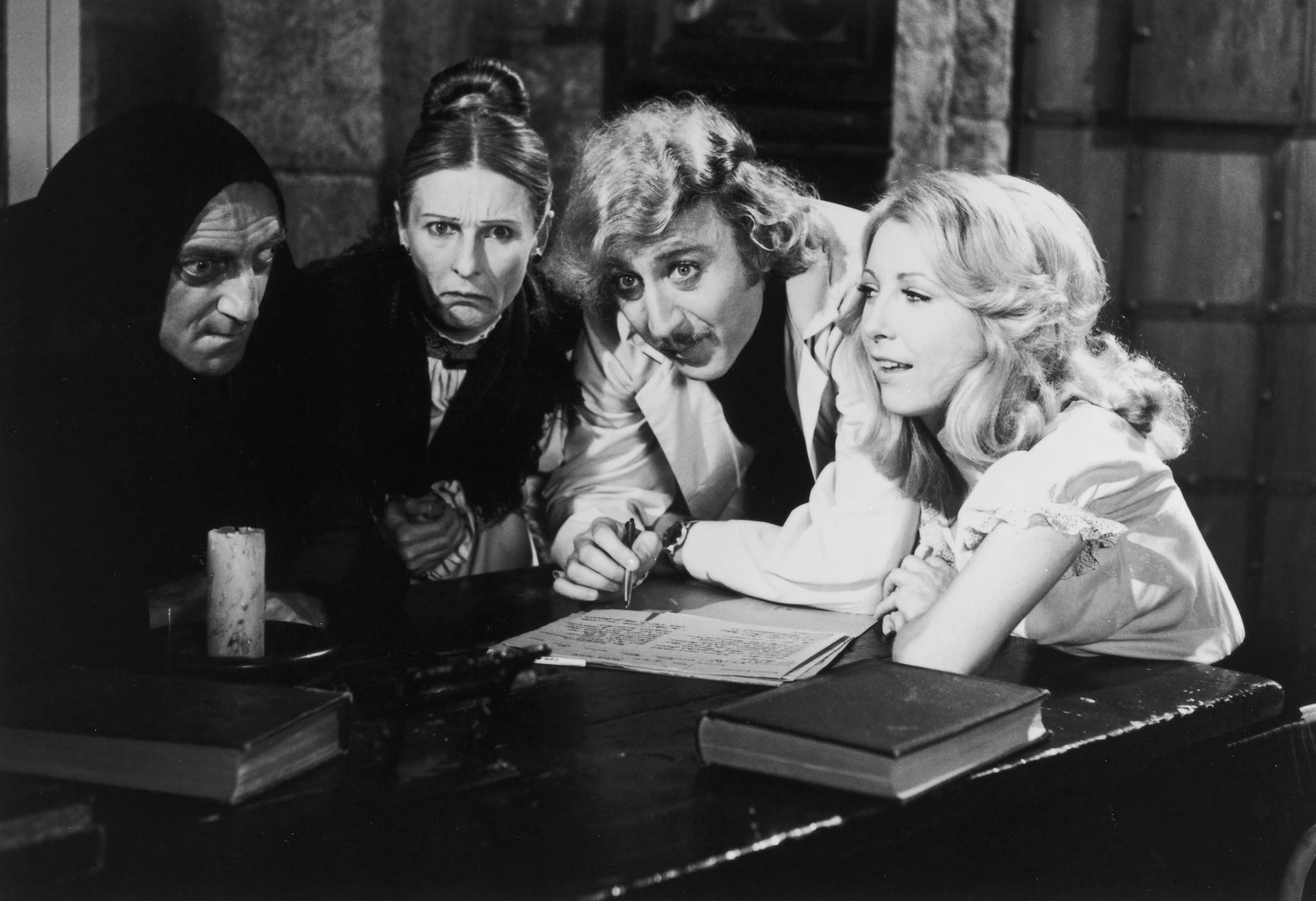 Teri Garr, Gene Wilder, Marty Feldman, and Cloris Leachman in Young Frankenstein (1974)