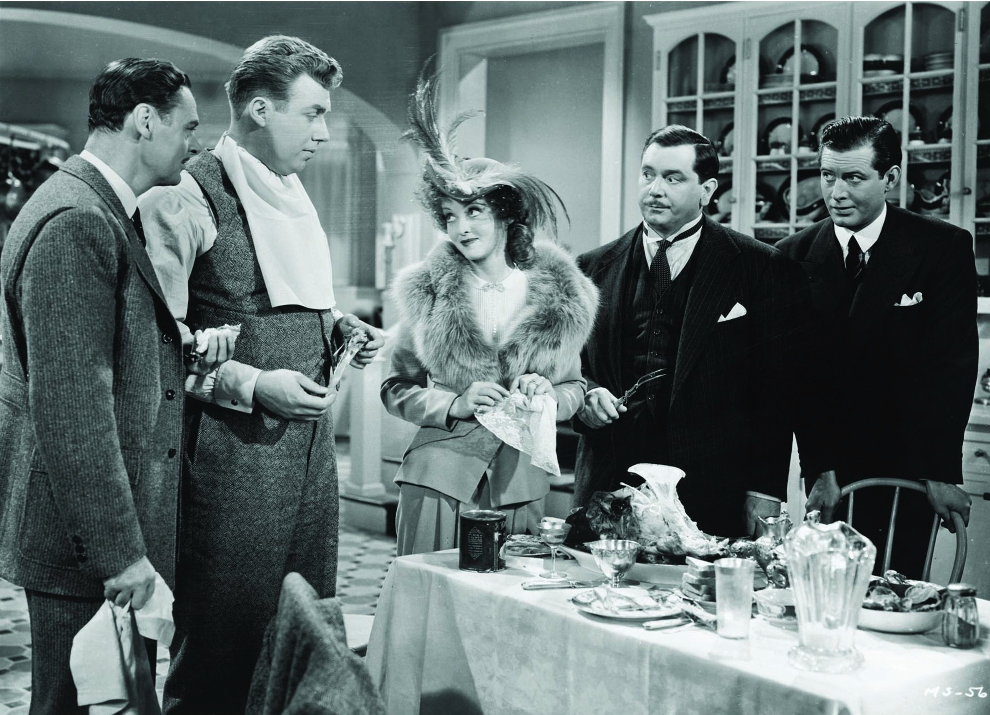 Bette Davis, John Alexander, Jerome Cowan, and Peter Whitney in Mr. Skeffington (1944)