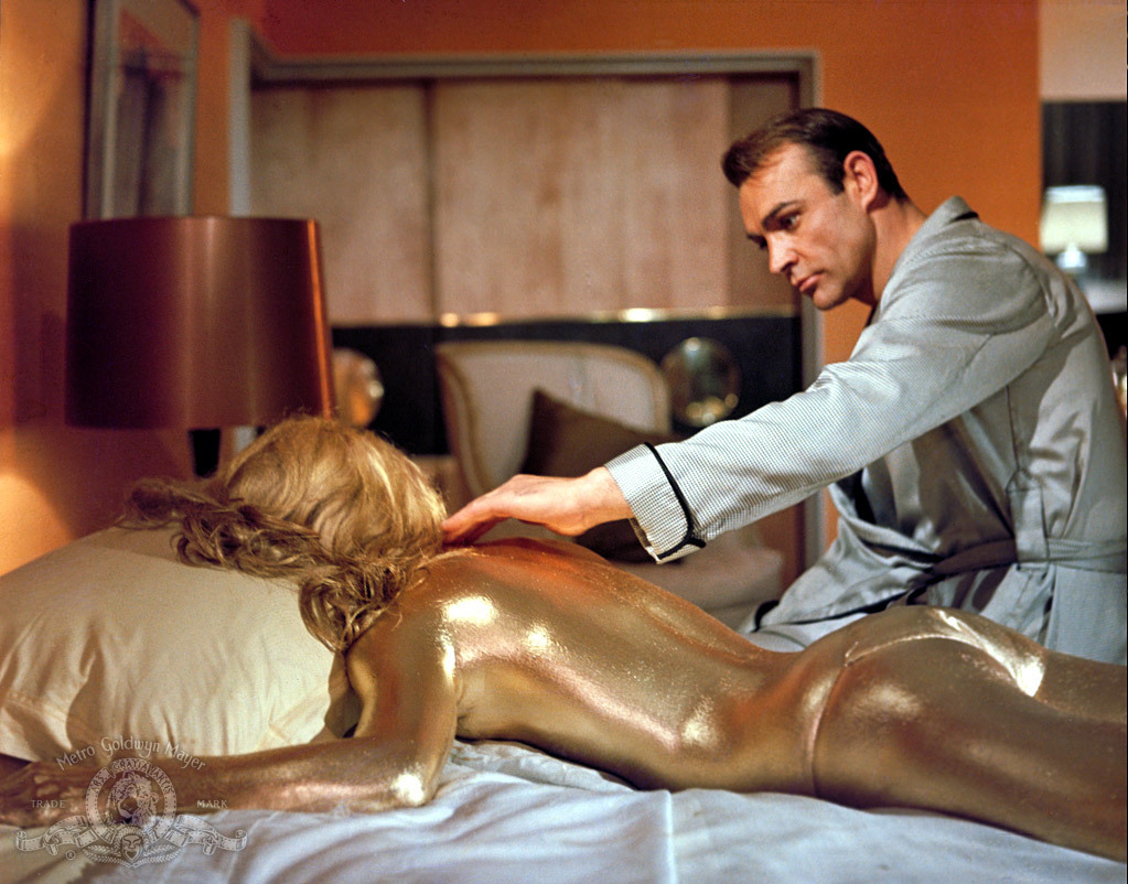 Sean Connery and Shirley Eaton in Goldfinger (1964)