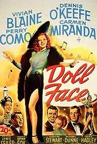 Carmen Miranda, Vivian Blaine, Perry Como, Stephen Dunne, Dennis O'Keefe, and Martha Stewart in Doll Face (1945)