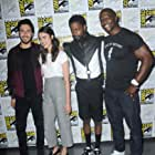 Terry Crews, Nat Wolff, LaKeith Stanfield, and Margaret Qualley at an event for Death Note (2017)