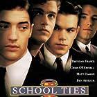 Ben Affleck, Matt Damon, Brendan Fraser, and Chris O'Donnell in School Ties (1992)