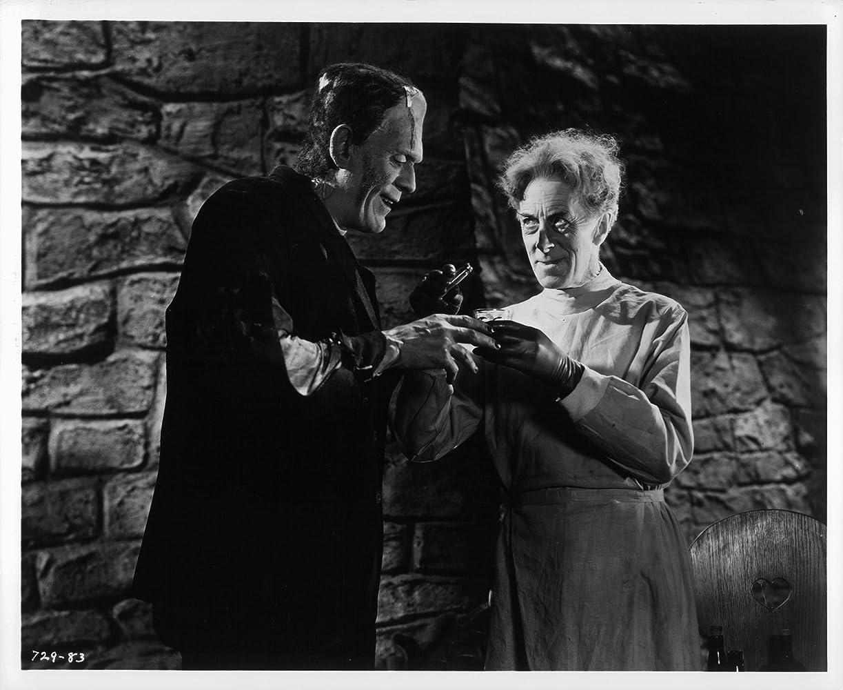Boris Karloff and Ernest Thesiger in Bride of Frankenstein (1935)