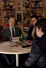Chris O'Dowd, Richard Ayoade, Simon Snashall, Charlie Baker, and Ed Weeks in The IT Crowd (2006)