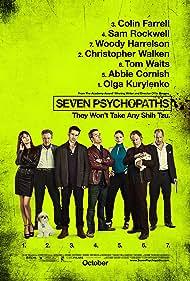 Woody Harrelson, Christopher Walken, Tom Waits, Sam Rockwell, Abbie Cornish, Colin Farrell, Olga Kurylenko, and Bonny in Seven Psychopaths (2012)