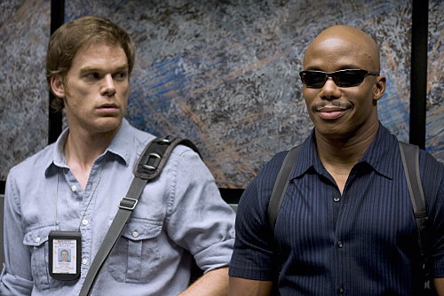 Michael C Hall and Erik King in Dexter 2006