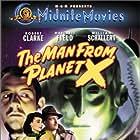 Raymond Bond, Robert Clarke, Margaret Field, Pat Goldin, and William Schallert in The Man from Planet X (1951)