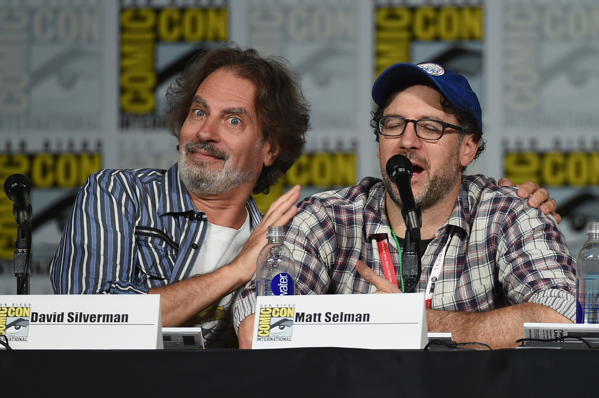 Matt Selman and David Silverman at an event for The Simpsons (1989)