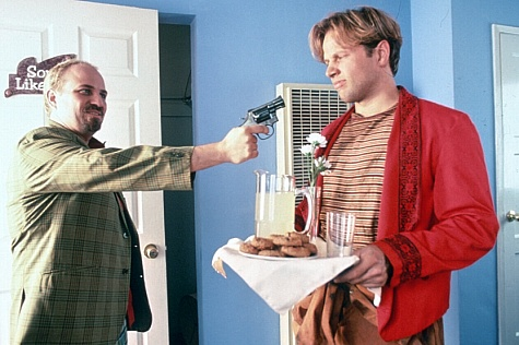 Bobcat Goldthwait and James Le Gros in Destiny Turns on the Radio (1995)