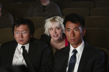 Masi Oka, James Kyson, and Brea Grant in Heroes (2006)