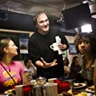 Quentin Tarantino, Rosario Dawson, Mary Elizabeth Winstead, Zoë Bell, and Tracie Thoms in Grindhouse (2007)
