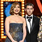 Jennifer Lopez and Nick Jonas at an event for The 69th Annual Tony Awards (2015)