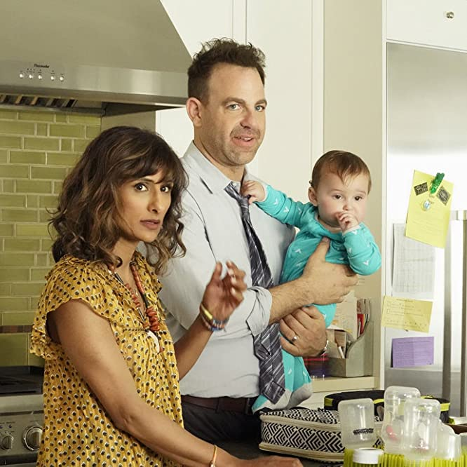 Paul Adelstein and Sarayu Blue in I Feel Bad (2018)