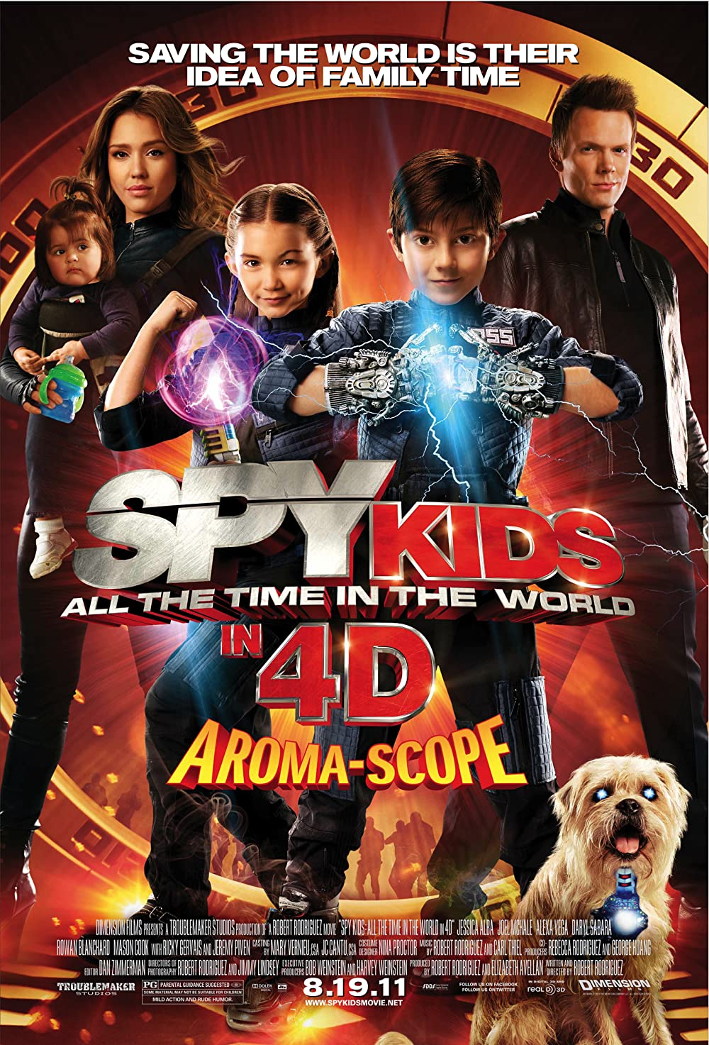 Spy Kids 4D All the Time in the World 2011 Dual Audio Hindi 720p BluRay ESub 690MB Download