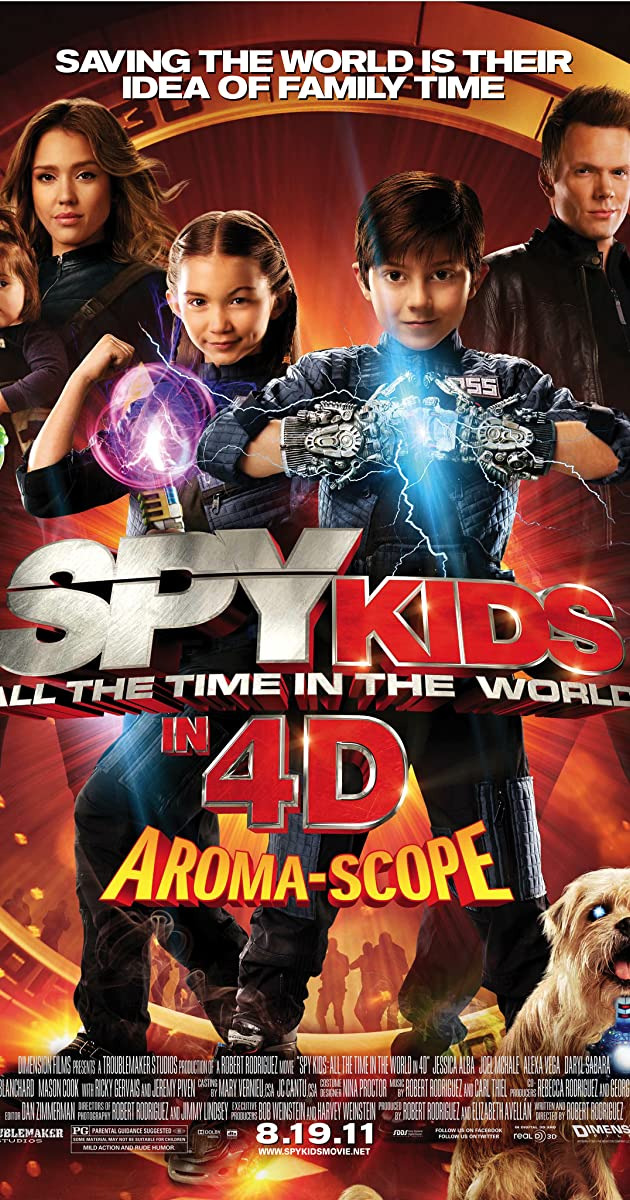 Subtitle of Spy Kids: All the Time in the World in 4D