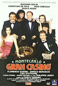 Massimo Boldi, Christian De Sica, Ezio Greggio, Florence Guérin, and Lisa Stothard in Montecarlo Gran Casinò (1987)