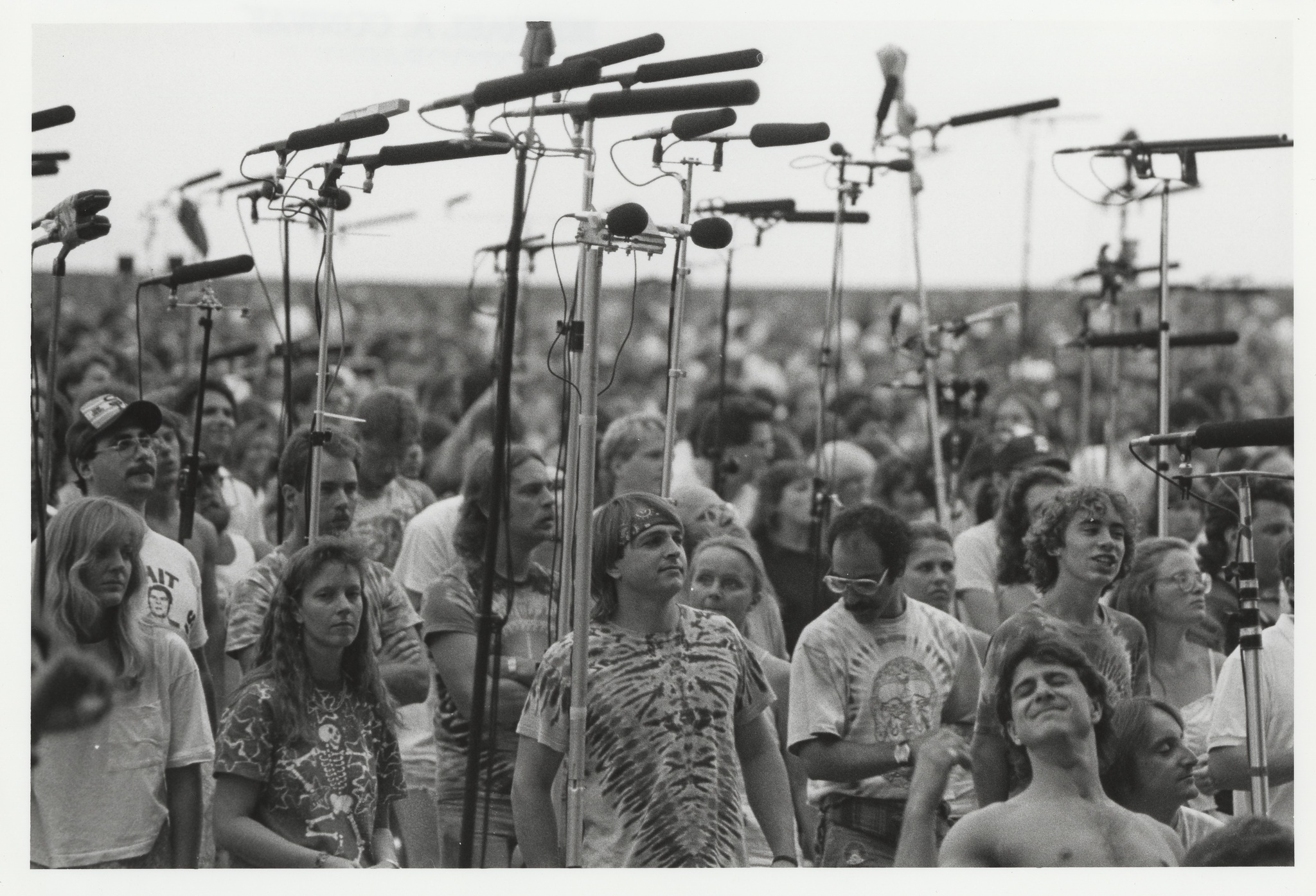 Deadheads in the Taper's Section at an outdoor venue late-1980s.