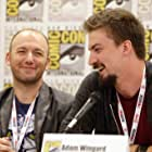 Adam Wingard and Simon Barrett at an event for You're Next (2011)