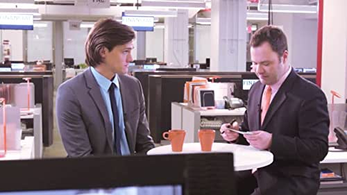 SPiN is a drama starring Hartley Sawyer and Wilson Cleveland that takes place over the course of a contentious live television interview between a Wall Street executive and a financial journalist.