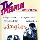 Matt Dillon, Bridget Fonda, Campbell Scott, and Kyra Sedgwick in Singles (1992)