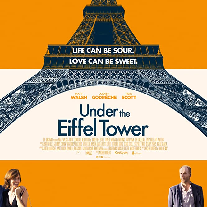 Judith Godrèche and Matt Walsh in Under the Eiffel Tower (2018)