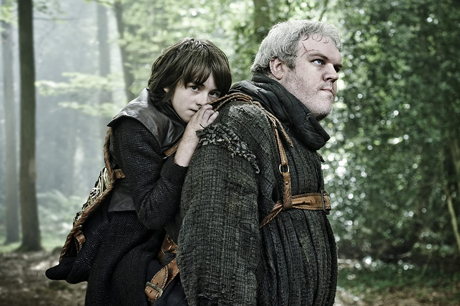 Isaac Hempstead Wright and Kristian Nairn in Game of Thrones (2011)