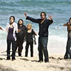 Jeff Fahey, Emilie de Ravin, Jorge Garcia, Josh Holloway, Yunjin Kim, and Evangeline Lilly in Lost (2004)