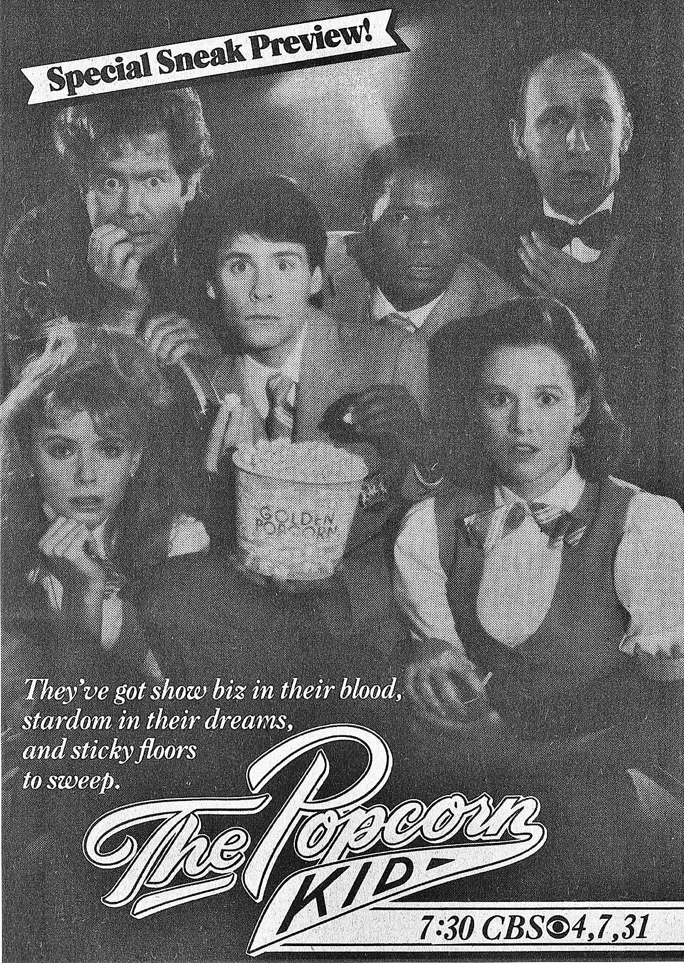 Penelope Ann Miller, Faith Ford, Raye Birk, John Christopher Jones, Jeff Joseph, and Bruce Norris in The Popcorn Kid (1987)