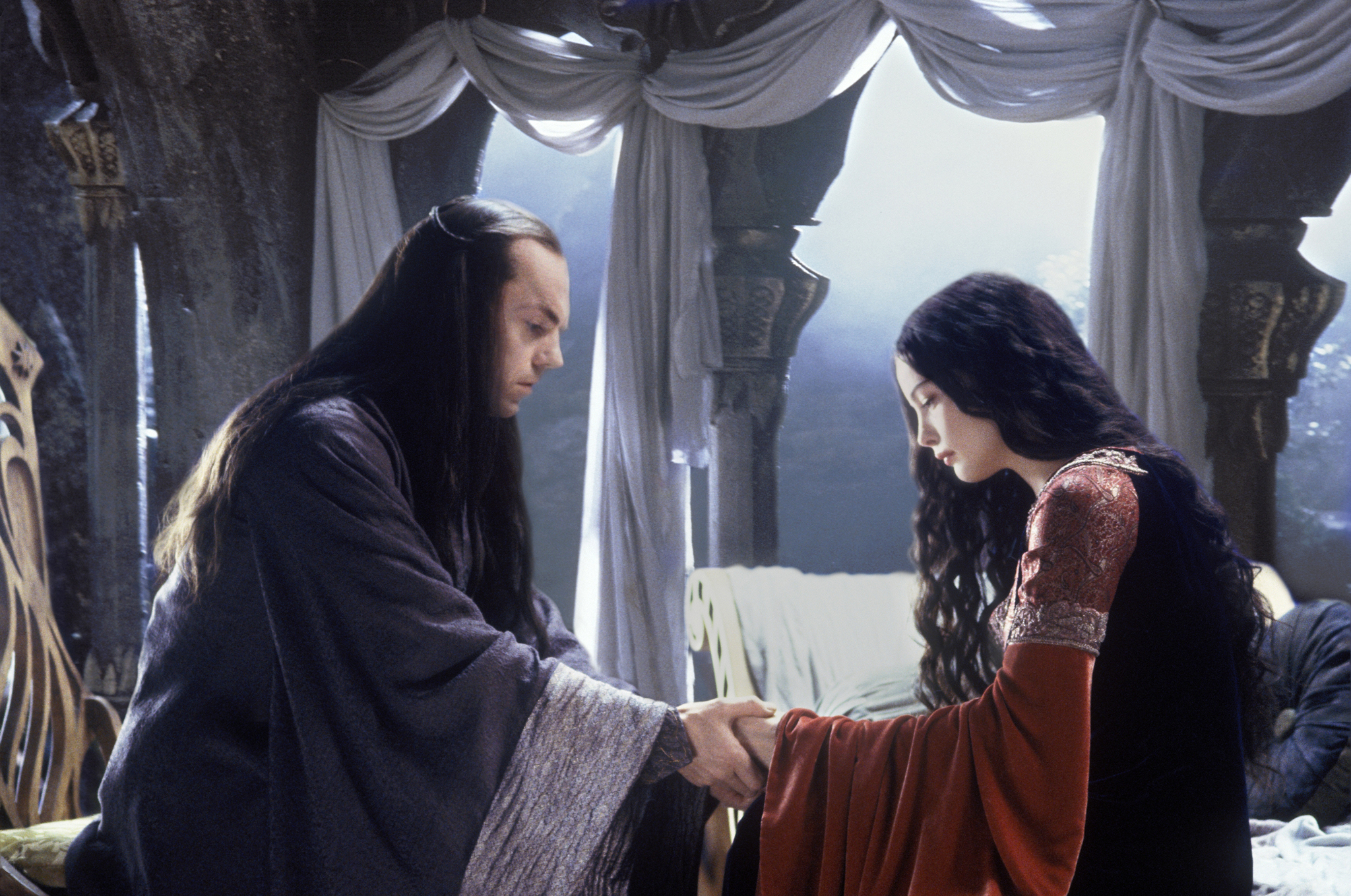Liv Tyler and Hugo Weaving in The Lord of the Rings: The Return of the King (2003)