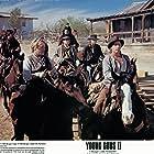 Christian Slater, Emilio Estevez, Kiefer Sutherland, Lou Diamond Phillips, and Alan Ruck in Young Guns II (1990)